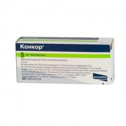 Конкор, табл. п/о пленочной 10 мг №30