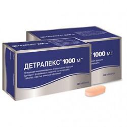Детралекс, табл. п/о пленочной 1000 мг №30